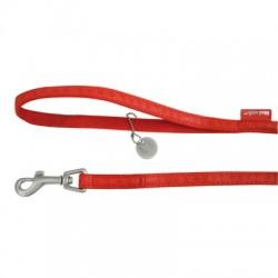Laisse rouge pour chien Mac Leather Zolux - 25 mm / 1,2 m