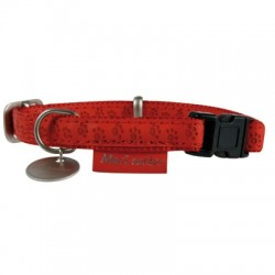 Collier réglable rouge Mac Leather - 25mm
