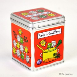 Boîte à cubes Bouillons - DLP - rouge