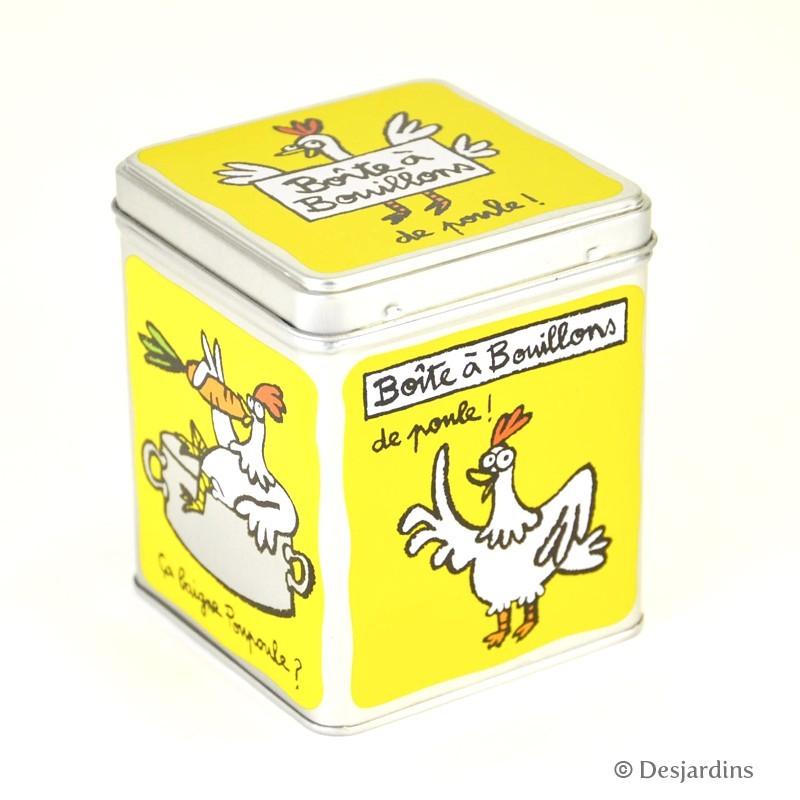 Boîte à cubes Poupoule - DLP - jaune