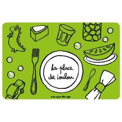 Set de table Place de Loulou - DLP - vert