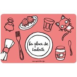 Set de table Place de Louloute - DLP - rose