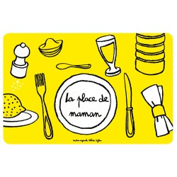 Set de table Place de Maman - DLP - jaune