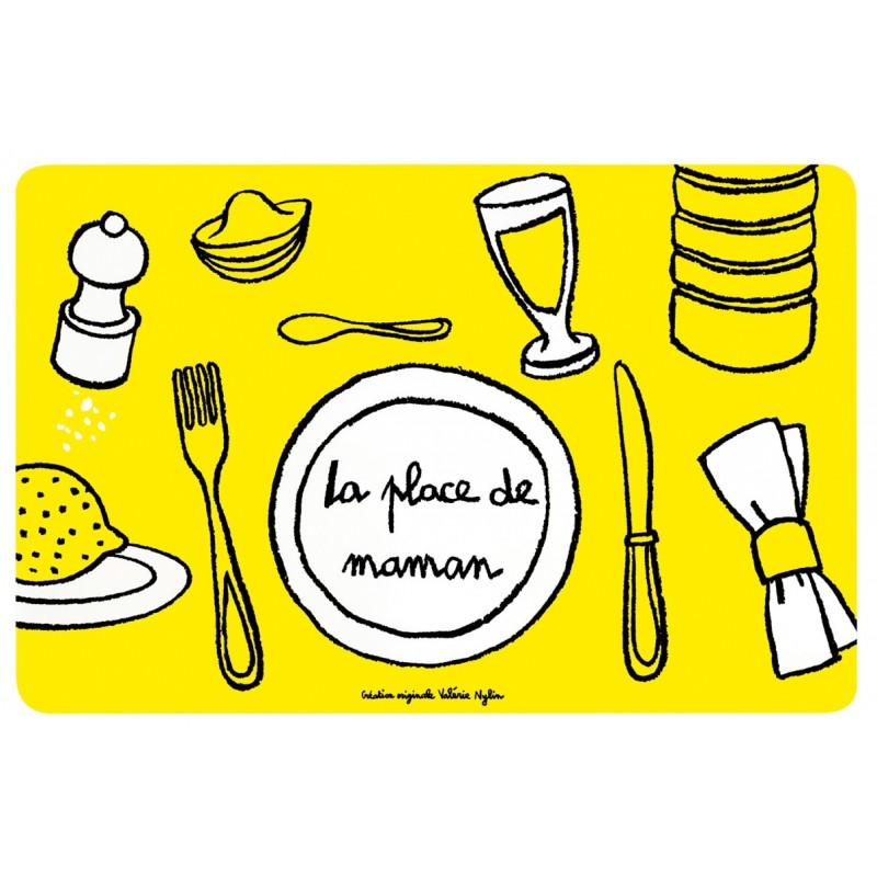 Set de table Place de Maman - DLP - jaune
